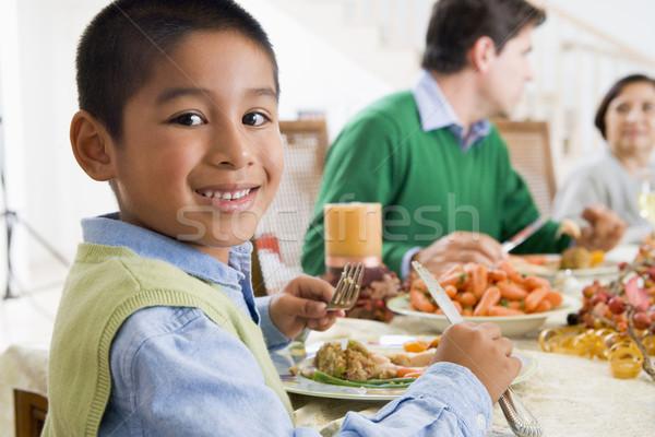 Stockfoto: Familie · alle · samen · christmas · diner · man