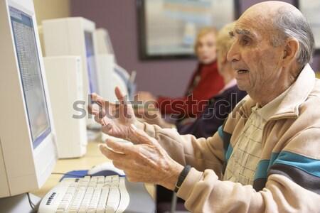Professor aluna alto computador homem Foto stock © monkey_business