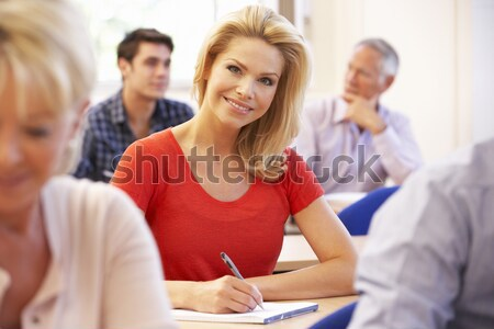A schoolgirl  in a high school class Stock photo © monkey_business