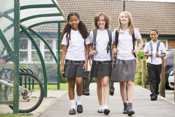 Junior school children leaving school Stock photo © monkey_business