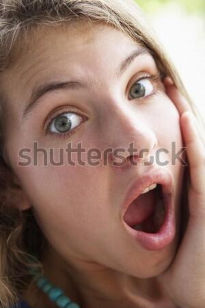 Retrato gritando menina crianças pessoa Foto stock © monkey_business
