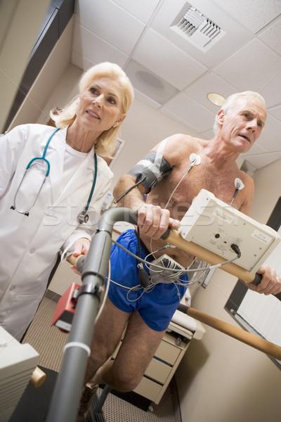 Orvos ellenőrzés beteg futópad nő férfi Stock fotó © monkey_business