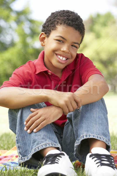 Portrait Of Young Boy In Park Stock photo © monkey_business