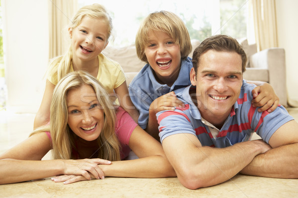Stock photo: Family Having Fun At Home Together