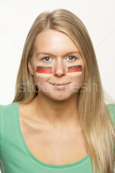 Young Female Sports Fan With German Flag Painted On Face Stock photo © monkey_business