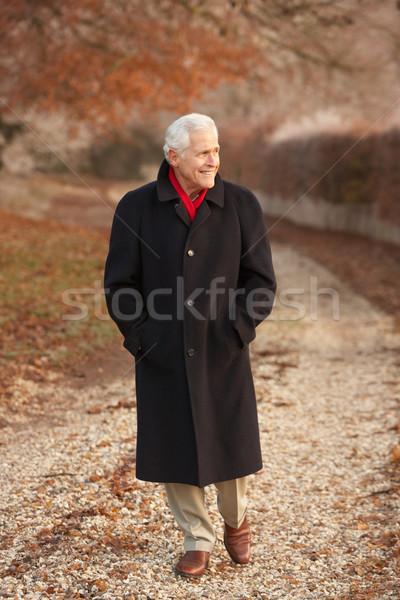 старший человека зима ходьбы морозный пейзаж Сток-фото © monkey_business