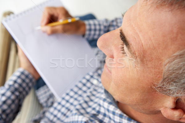 Mid age man sketching Stock photo © monkey_business
