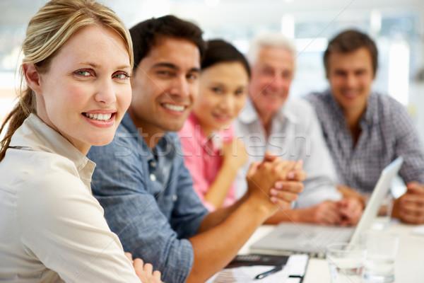 Mista gruppo incontro di lavoro business donne riunione Foto d'archivio © monkey_business
