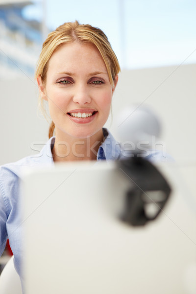 Businesswoman using skype Stock photo © monkey_business