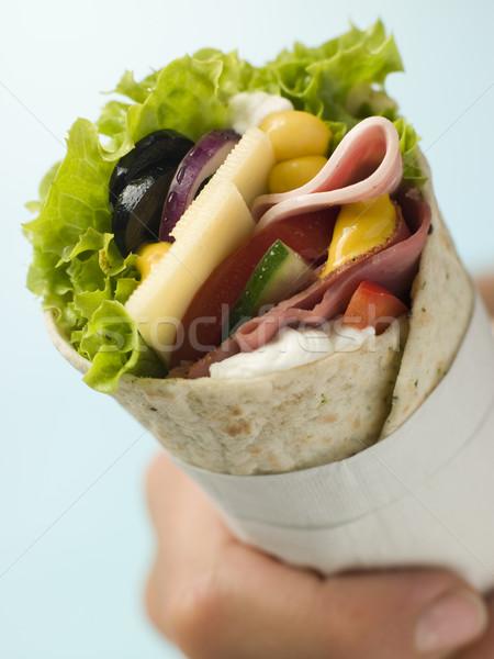 Open Deli Tortilla Wrap in a Napkin Stock photo © monkey_business