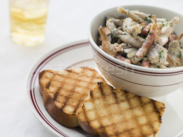 Fricassee of Frog Legs with Grilled Brioche Stock photo © monkey_business