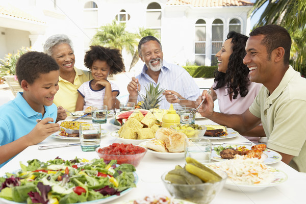 Stockfoto: Familie · eten · maaltijd · voedsel · kinderen