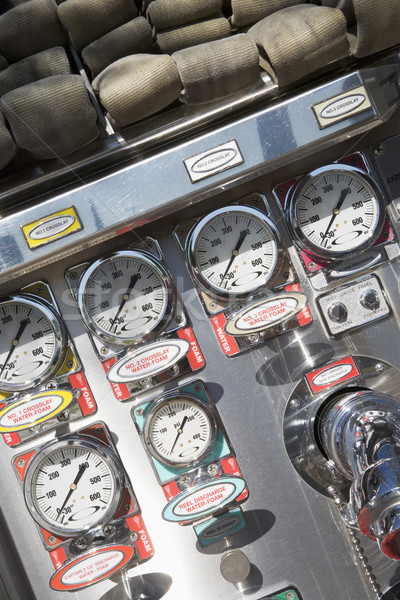 Gauges and dials on a fire engine Stock photo © monkey_business