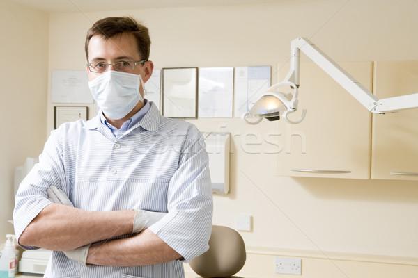 Zdjęcia stock: Dentysta · egzamin · pokój · maska · uśmiech · pracy