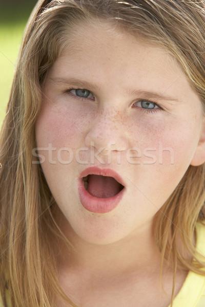 Crianças retratos menino feliz sorridente tímido Foto stock © monkey_business
