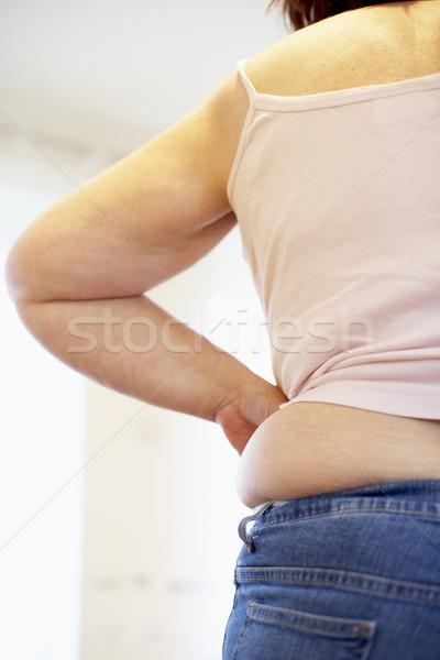 подробность избыточный вес женщину девушки тело жира Сток-фото © monkey_business