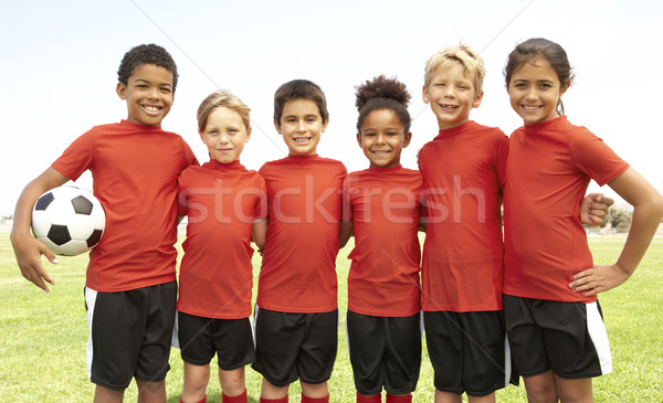 Young Boys And Girls In Football Team Stock photo © monkey_business