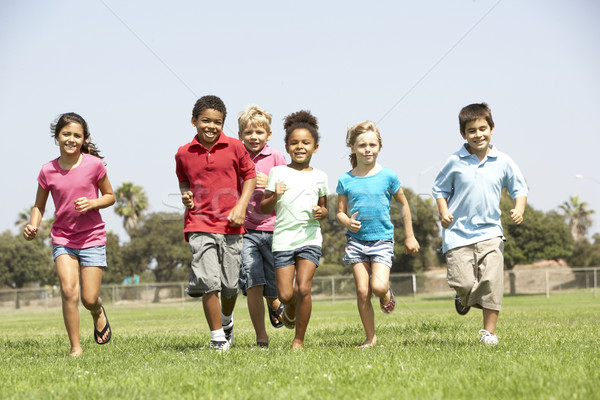 Group Of Children Running In Park Stock photo © monkey_business
