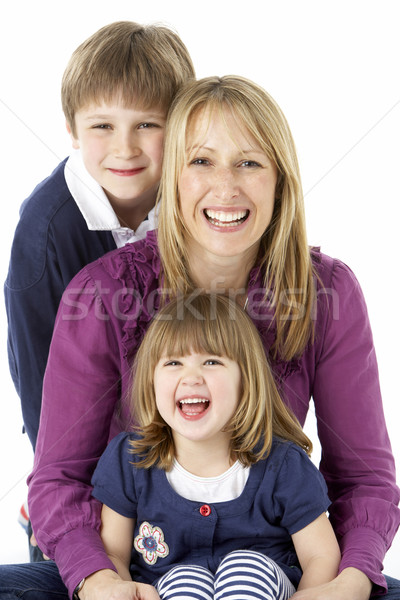 Mother With 2 Young Children In Studio Stock photo © monkey_business