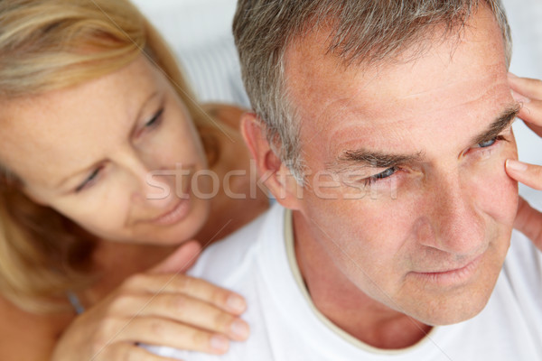 Woman comforting anxious husband Stock photo © monkey_business