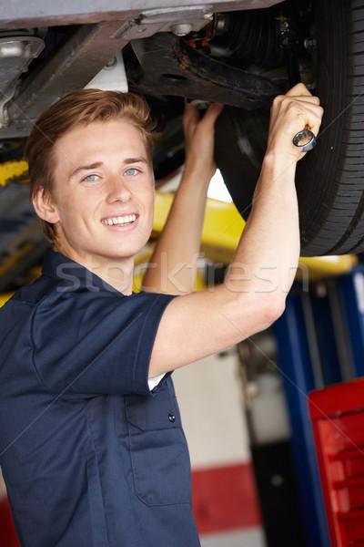 Mechanik pracy pracy portret koła osoby Zdjęcia stock © monkey_business