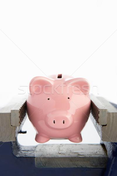 Tirelire étau argent pauvres pauvreté concept Photo stock © monkey_business