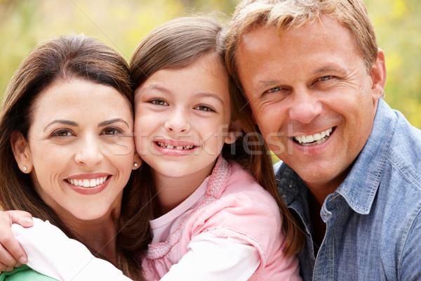Família ao ar livre mulher sol criança casal Foto stock © monkey_business