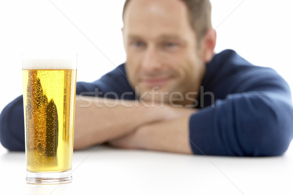 Man Looking At Glass Of Beer Stock photo © monkey_business