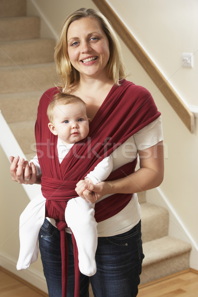 Baby In Sling With Mother Stock photo © monkey_business