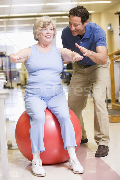 Physiotherapist With Patient In Rehabilitation Stock photo © monkey_business