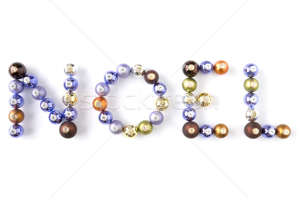 Christmas Baubles Spelling Out Noel Stock photo © monkey_business