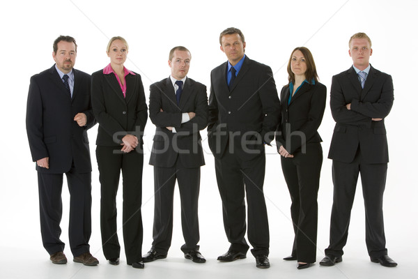 Stock photo: Group Of Business People Standing In A Line