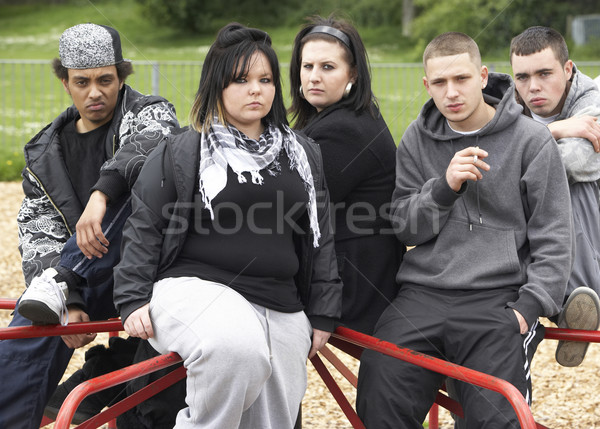 Group Of Young People In Playground Stock photo © monkey_business