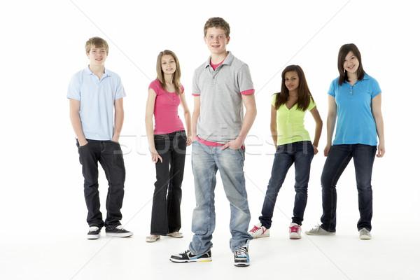 Gruppo adolescente amici studio felice ritratto Foto d'archivio © monkey_business