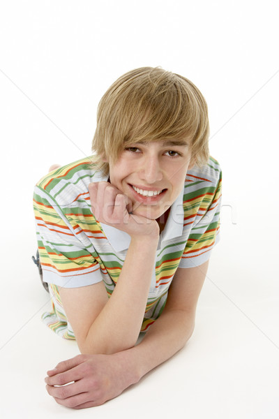 Estúdio retrato feliz cara menino Foto stock © monkey_business