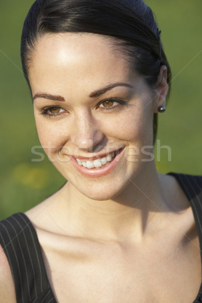 Portret kobieta lata dziedzinie ogród kobiet Zdjęcia stock © monkey_business