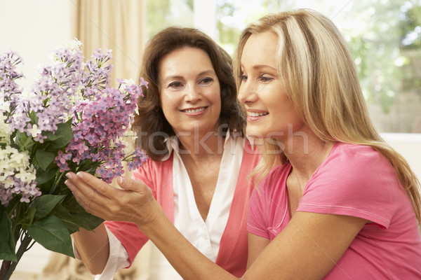 Senior Woman And Daughter At Home Arranging Flowers Stock photo © monkey_business