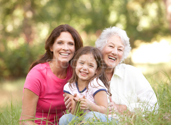 Grandmother With Daughter And Granddaughter In Park Stock photo © monkey_business