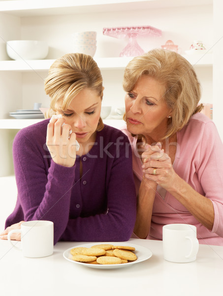 Mother Consoling Grown Up Daughter Stock photo © monkey_business
