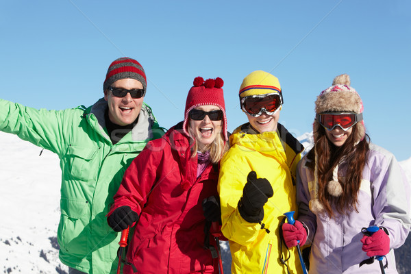 Teenage Family On Ski Holiday In Mountains Stock photo © monkey_business