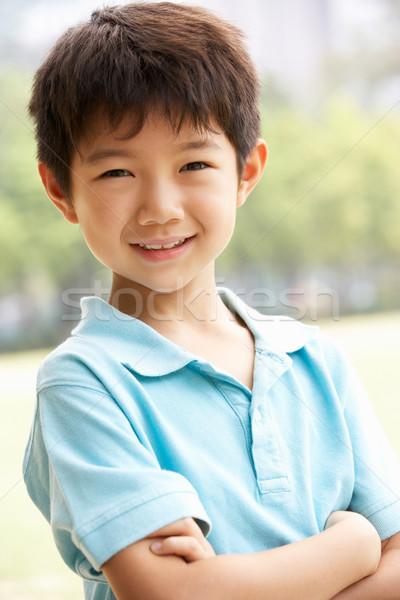 Fej vállak portré kínai fiú gyerekek Stock fotó © monkey_business