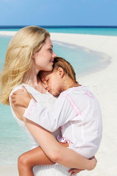 Mãe filha belo praia mulher Foto stock © monkey_business