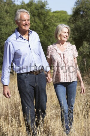 Couple On Country Walk Through Woodland Stock photo © monkey_business