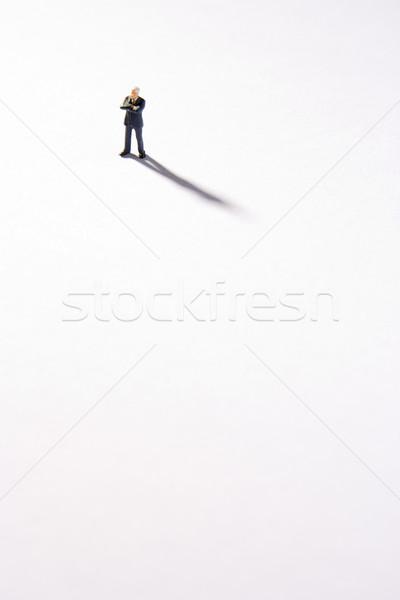 Beeldje zakenman business model pak Stockfoto © monkey_business