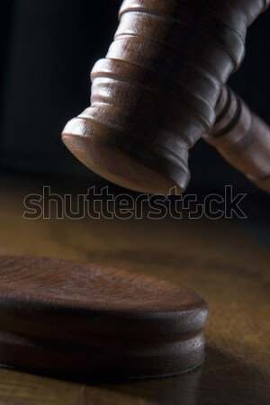 Hamer hout justitie hamer verkoop Stockfoto © monkey_business