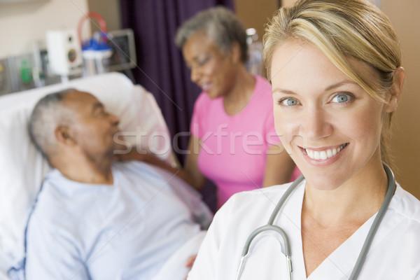 Stock fotó: Orvos · szoba · nő · férfi · nők · pár