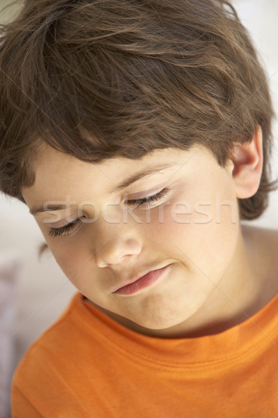 Portrait Of Young Boy Sulking Stock photo © monkey_business