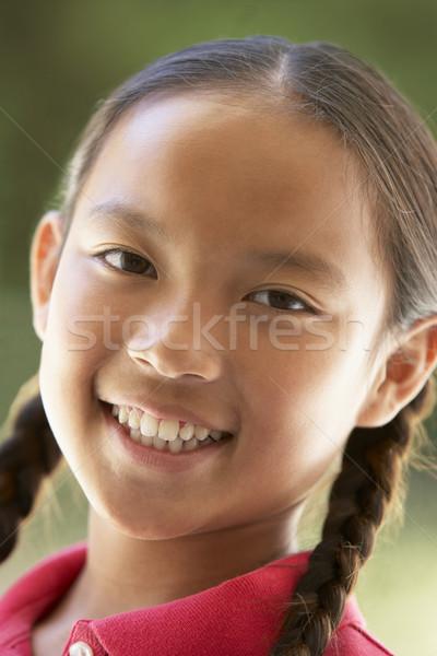 Photo stock: Portrait · fille · souriant · enfants · enfant · personne