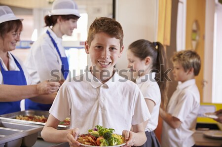 Schoolchildren at school in a cooking class Stock photo © monkey_business