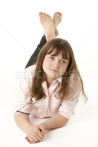 Сток-фото: желудка · студию · девушки · детей